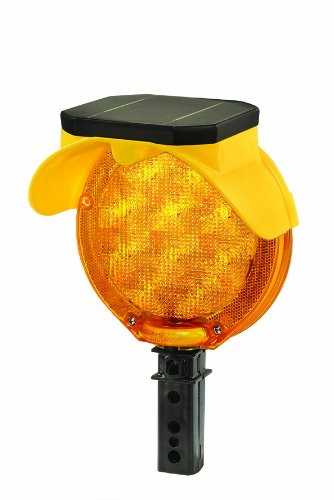 Checkers BS.DB Polycarbonate and Polypropylene Solar Barricade Lights, Type B, 1 Sided Visibility, D Bolt, 1.25'' Length, 1.25'' Width, 4.5'' Height