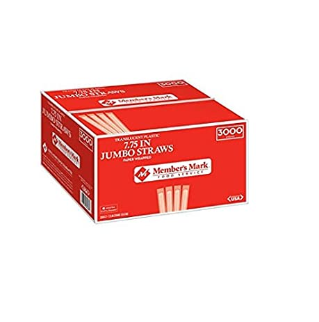 Member's Mark Jumbo Wrapped Straws (3,000 ct.) (pack of 2)