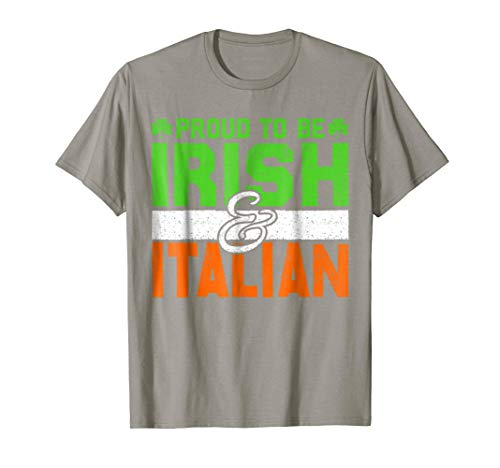 Irish Italian St Patrick's Day Holiday T Shirt Great Gift (Irish Italian St Patricks Day T Shirts)