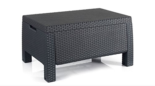 Paradise Wood All-Weather Open-weave Summer Outdoor Patio Storage Coffee Table, Grey by Paradise Wood