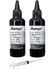 Aomya Ink Refill Kit 100ml for HP 61 60 62 63 950 951 564 920 901 Inkjet Printer Cartridges for Refillable Ink Cartridges or CIS CISS System with 4 Free Syringes …