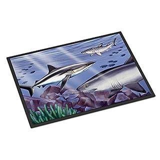 Caroline's Treasures PTW2043MAT Sharks Indoor or Outdoor Mat 18x27, 18H X 27W, Multicolor