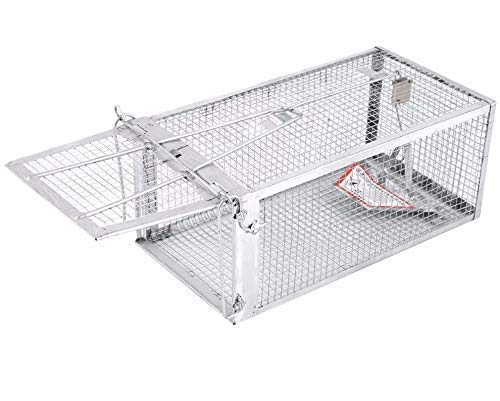 """AB Traps Pro-Quality Live Animal Humane Trap Catch and Release Rats Mouse Mice Rodents and Similar Sized Pests - Safe and Effective - 10.5"""" x 5.5"""" x 4.5"""" Single Door"""