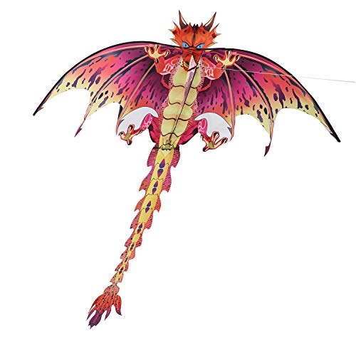 ZS-Juyi 2019 Pterosaur Kite Dinosaur Kite Line Breeze Kids Outdoor Fun Sports for Adults,Boys,Girls (Dinosaur) (Best Light Wind Kite 2019)