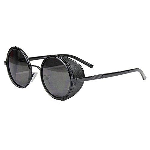 Sunward Vintage Mirror Lens Round Glasses Cyber Goggles Steampunk Sunglasses - Sunglasses Steampunk Shop