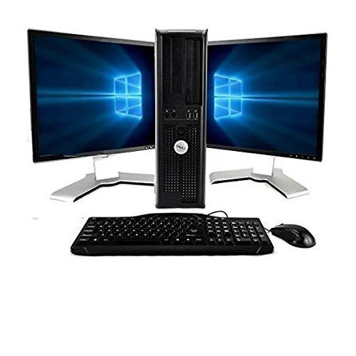 "Dell OptiPlex Computer Package Dual Core 3.0,New 8GB RAM, 250GB HDD, Windows 10 Home Edition, Dual 19"" Monitor (Brands may vary) - (Renewed)"
