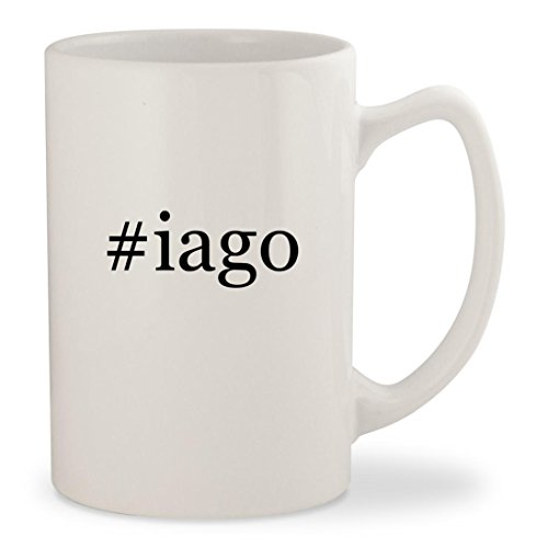 #iago - White Hashtag 14oz Ceramic Statesman Coffee Mug Cup