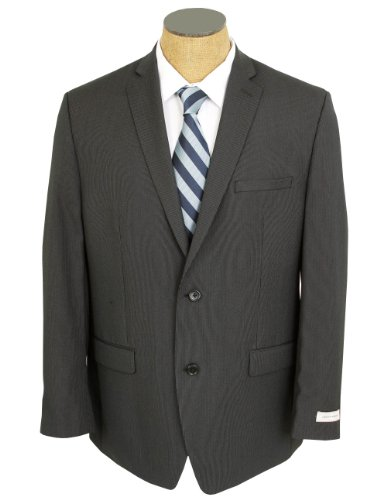 (Joseph Abboud Collection Black Pinstriped Half Canvased Wool Suit Made in)