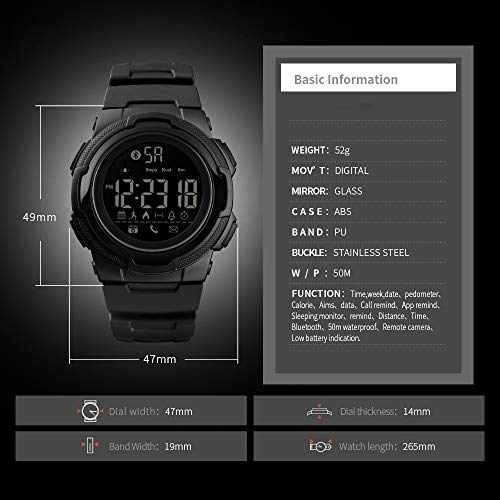 Amazon.com: BAIYI Bluetooth Smart Watch Men Luxury ...
