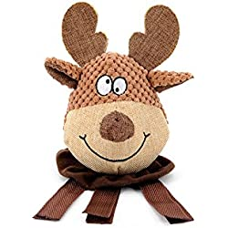 KathShop Dog Chew Toy Elk Calf Interactive Training Puzzle Funny Sound Toys Signature Cotton