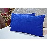 "Trance Home Linen Waterproof & Dustproof Pillow Protector-17 x 25"" (Royale Blue)"