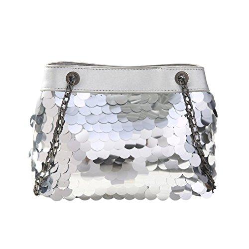 WILLTOO Women Bucket Bag Sequins Satchel Tote Train Handbag Mini Shoulder Bag Crossbody&Messenger (Michaels Paint Pens)