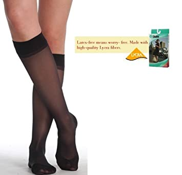 f21eeb9840f Image Unavailable. Image not available for. Color  Juzo Attractive 15-20 Compression  OTC Sheer KNEE High ...