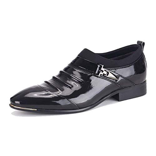 Primavera Ed Estate Moda Stile Britannico Scarpe Pigre Scarpe da Uomo con Pelle Business Pointed Black