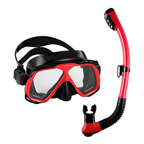 Diving Mask 180°view Panoramic Snorkel ,Anti-fog Waterproof Mask,unisex Adjustable Head Straps Freediving Mask,Breathe freely,See Larger Viewing Area by foreverharbor
