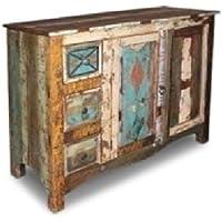 mueble aparador,vitrina consola vintage de madera maciza