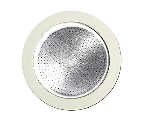 Bialetti 0800403 Filtro para Cafetera Italiana, de Acero Inoxidable, Blanco/Acero Inoxidable (19 x 12,5 x 0,2 cm)