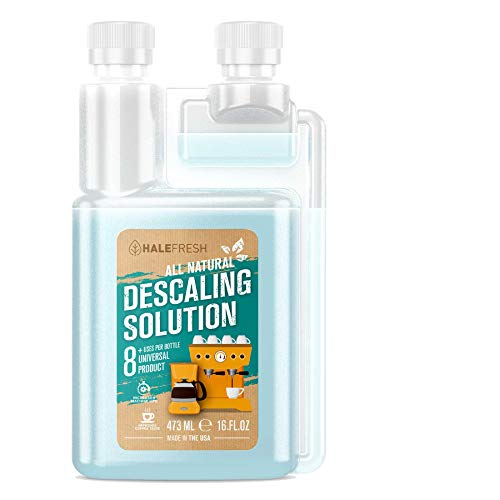 Descaling Solution Coffee Maker Cleaner - Simple All Natural 8 Uses Per Bottle - Universal for Keurig, Ninja, Nespresso, Gagia, Mr Coffee, and Drip, Coffee and Espresso Machines (Clean Coffee Maker)