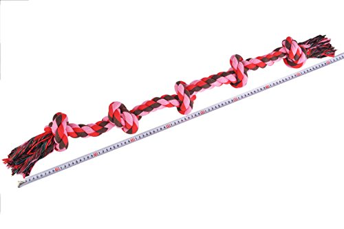 BINGPET-Tough-Durable-Chew-Braided-Rope-Cute-Dog-Safe-Activity-Toys-for-Large-Dogs