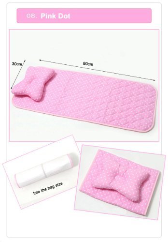 Portable Mini Waterproof Mattress with Pillow for Baby (0153) (8 pinl dot)