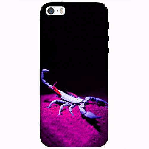 Coque Apple Iphone 5-5s-SE - Alien Scorpion Bleu