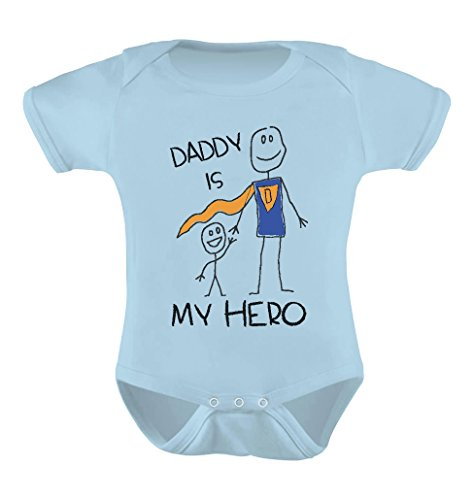 Tstars Daddy is My Hero - Super Dad for Father from Son/Daughter Cute Baby Bodysuit 6M -
