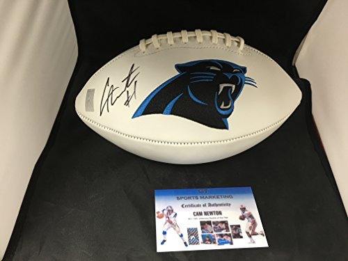 cam-newton-autographed-signed-carolina-panthers-logo-football-gtsm-player-hologram-and-coa