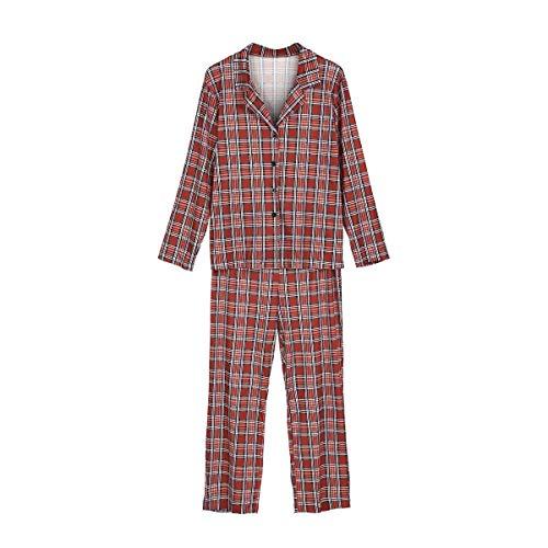 a4f5099f0d Homewear Noël Mode Longues Dame Élégant Famille Vêtements Nuit Automne  Pyjama Manches Casual Mama Ensemble Femmes ...