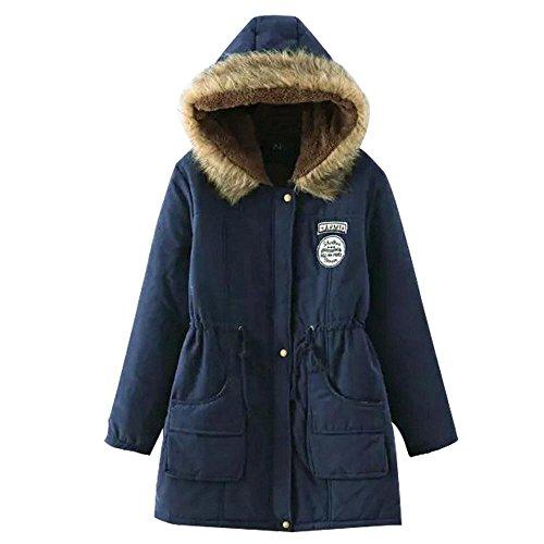 sección con de y nuevo de piel delgada de de la chaquetas ocasional 2 mujeres cuello tamaño algodón del de gran cordero larga Invierno las capucha capa gIZqn8qF