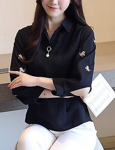 Black da collo Camicia YFLTZ geometrico lavoro donna da camicia tAwx48