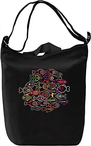 Colorful fishes Borsa Giornaliera Canvas Canvas Day Bag| 100% Premium Cotton Canvas| DTG Printing|