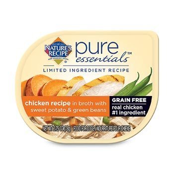 Nature's Recipe Pure Essentials Grain Free Chicken in Broth Wet Dog Food, 2.75 oz., Case of 24