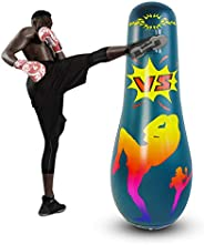 Inflatable Punching Bag for Adult,Free Standing Boxing Bag for Immediate Bounce Back Heavy Punching Bag for Pr