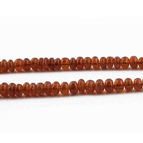 1 Strand Hessonite Smooth Rondelles- Hessonite Roundelles Beads 5mm-9mm 18 Inches by LadoNarayani