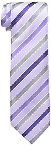 Geoffrey Beene Men's Sunny Stripe Tie, Purple, One Size (Beene Mens Geoffrey Stripe)