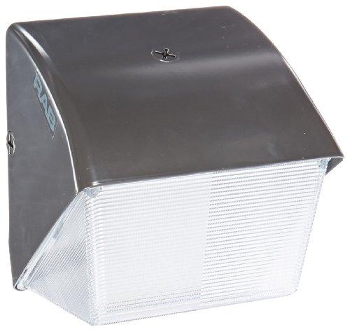 (RAB Lighting WP1SN50 WP1 Compact High Pressure Sodium Wallpack with Lexan Lens, ED17 Type, Aluminum, 50W Power, 4000 Lumens, 120V, R-NPF Ballast, Bronze Color)
