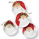 Vietri Old Saint Nick Assorted Ceramic Ornaments Set Of 4
