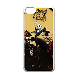 iPhone 5c Cell Phone Case White Kingdom Hearts Halloween Town Generic Phone Case Cover Fashion XPDSUNTR26323