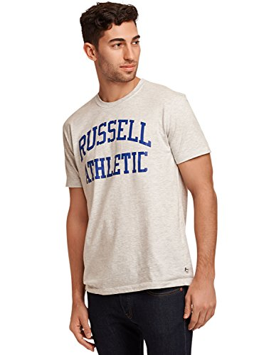 (Russell Athletic Heritage Men's Iconic Arch T-Shirt, Bleached Marl, M )