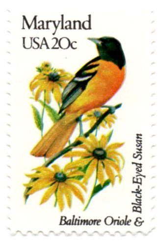 USA Postage Stamp Single 1982 Maryland State Bird And Flower Issue 20 Cent Scott #1972
