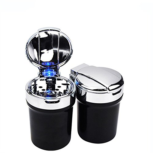 yifeng Stainless Steel Car Ashtray, LED Light Cigarette Ashtray Cup For Suitable for All Car Cup Holder by yifeng