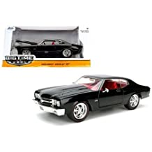 NEW 1:24 W/B JADA TOYS BIG TIME MUSCLE COLLECTION - BLACK 1970 CHEVROLET CHEVELLE SS Diecast Model Car By Jada Toys