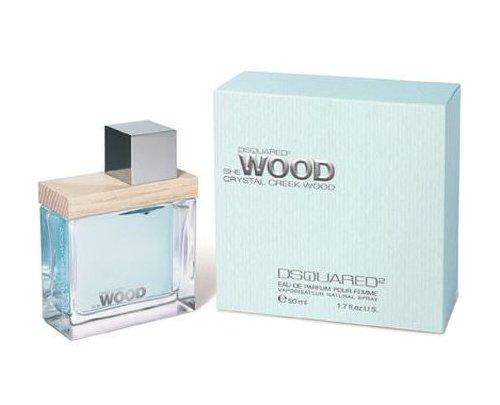 Dsquared2 She Wood Crystal Creek Wood Eau de Parfum Spray for Women, 1.7 Ounce