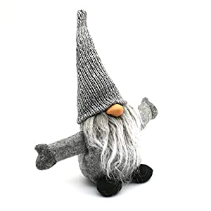 ITOMTE Handmade Swedish Gnome, Scandinavian Tomte, Yule Santa Nisse, Nordic Figurine, Plush Elf Toy, Home Decor, Winter…