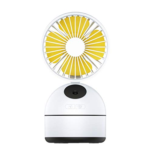 JinJin Usb Spray Mini Fan, Portable Mini Personal Cooling Fan with USB Rechargeable Battery Operated Water Spray Bedroom Desk Humidification Fan Outdoor Portable Charging (white)
