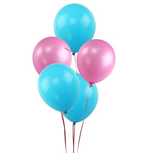 KUMEED Pink Sky Blue Balloons 12
