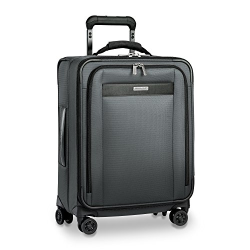 Briggs & Riley Nylon Carry On - Briggs & Riley Transcend Wide Carry-on Expandable Spinner, Slate