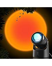 STN Zonsondergang Lamp, Zonsondergang Projectielamp 10W USB Zonsondergang Licht Warm Romantische Visuele Nacht Decoratieve Lichten 180 Graden Rotatie voor Fotografie Achtergrond, Verlichting, Home Decor