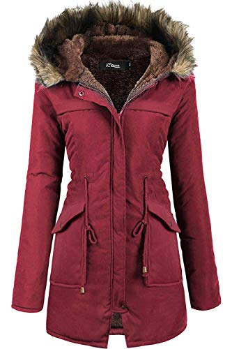 iClosam Women Hooded Warm Long Coats Faux Fur Lined Parka Anroaks Outdoor...