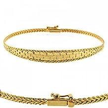 18K Gold over Sterling Silver Fox Tail Weave Design Bracelet